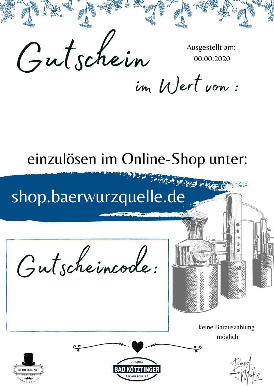 Wertgutschein Online-Shop 50,--€